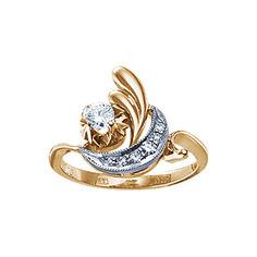 Золотое кольцо 17383RS Ювелирное изделие
