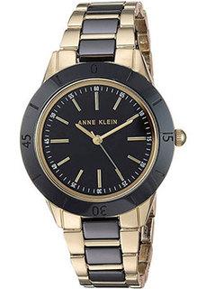 fashion наручные женские часы Anne Klein 3160BKGB. Коллекция Ceramics