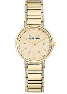 fashion наручные женские часы Anne Klein 3200CHGB. Коллекция Crystal