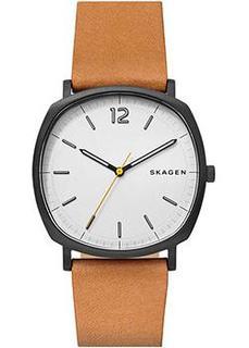 Швейцарские наручные мужские часы Skagen SKW6379. Коллекция Leather
