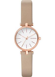 Швейцарские наручные женские часы Skagen SKW2643. Коллекция Leather