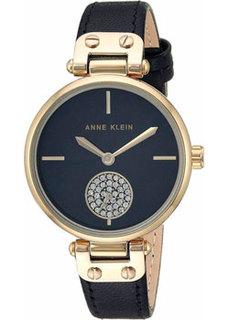 fashion наручные женские часы Anne Klein 3380BKBK. Коллекция Crystal