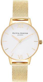 fashion наручные женские часы Olivia Burton OB16MDW35. Коллекция White Dial Mesh
