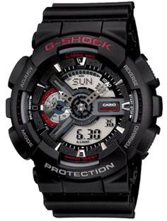 Японские наручные мужские часы Casio GA-110-1A. Коллекция G-Shock