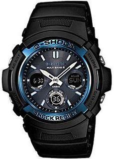 Японские наручные мужские часы Casio AWG-M100A-1A. Коллекция G-Shock