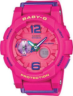 Японские наручные женские часы Casio BGA-180-4B3. Коллекция Baby-G