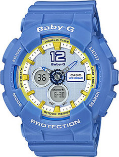 Японские наручные женские часы Casio BA-120-2B. Коллекция Baby-G