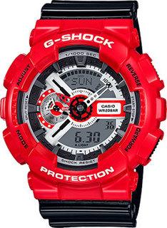 Японские наручные мужские часы Casio GA-110RD-4A. Коллекция G-Shock