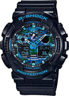 Японские наручные мужские часы Casio GA-100CB-1A. Коллекция G-Shock