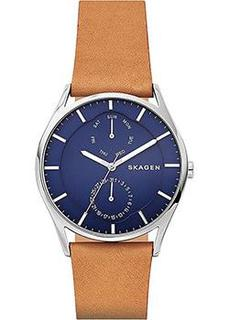 Швейцарские наручные мужские часы Skagen SKW6369. Коллекция Leather