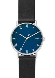 Швейцарские наручные мужские часы Skagen SKW6434. Коллекция Leather