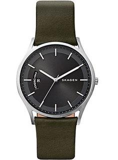 Швейцарские наручные мужские часы Skagen SKW6394. Коллекция Leather