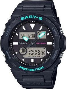 Японские наручные женские часы Casio BAX-100-1AER. Коллекция Baby-G