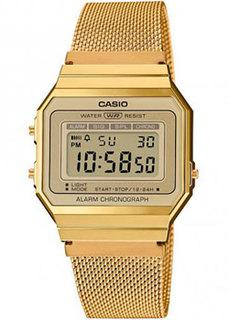 Японские наручные мужские часы Casio A700WEMG-9AEF. Коллекция Digital