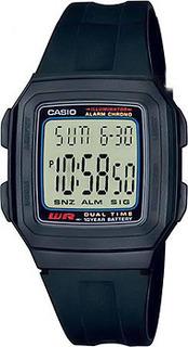 Японские наручные мужские часы Casio F-201W-1A. Коллекция Digital