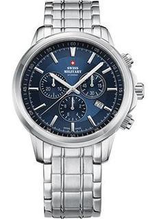 Швейцарские наручные мужские часы Swiss military SM34052.03. Коллекция Кварцевые хронографы