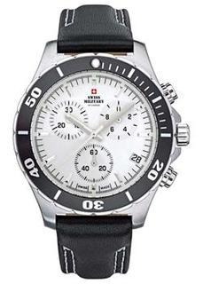 Швейцарские наручные мужские часы Swiss military SM34036.06. Коллекция Кварцевые хронографы