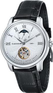 мужские часы Earnshaw ES-8066-01. Коллекция Longitude Moonphase