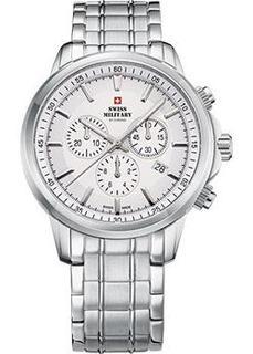 Швейцарские наручные мужские часы Swiss military SM34052.02. Коллекция Кварцевые хронографы