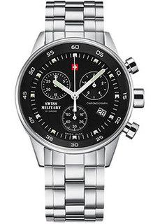 Швейцарские наручные мужские часы Swiss military SM34005.01. Коллекция Кварцевый хронографы