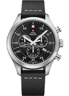 Швейцарские наручные мужские часы Swiss military SM34076.04. Коллекция Кварцевые хронографы