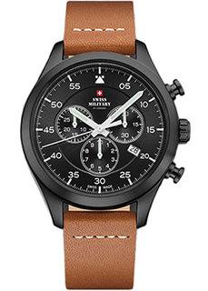 Швейцарские наручные мужские часы Swiss military SM34076.08. Коллекция Кварцевые хронографы