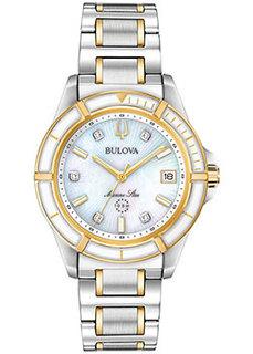 Японские наручные женские часы Bulova 98P186. Коллекция Marine Star Ladies