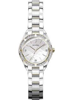 Японские наручные женские часы Bulova 98R263. Коллекция Diamonds