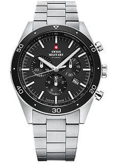 Швейцарские наручные мужские часы Swiss military SM34079.01. Коллекция Кварцевые хронографы