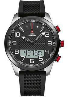 Швейцарские наручные мужские часы Swiss military SM34061.01. Коллекция Кварцевые хронографы