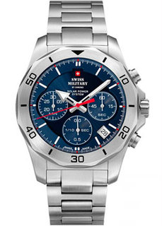 Швейцарские наручные мужские часы Swiss military SMS34072.02. Коллекция Solar Power