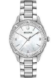 Японские наручные женские часы Bulova 96R228. Коллекция Diamonds