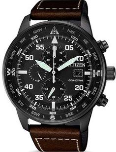 Японские наручные мужские часы Citizen CA0695-17E. Коллекция Eco-Drive