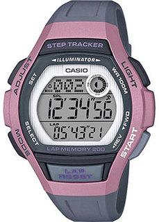 Японские наручные женские часы Casio LWS-2000H-4AVEF. Коллекция Digital