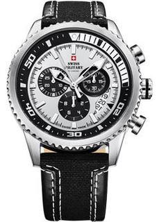 Швейцарские наручные мужские часы Swiss military SM34042.06. Коллекция Кварцевые хронографы