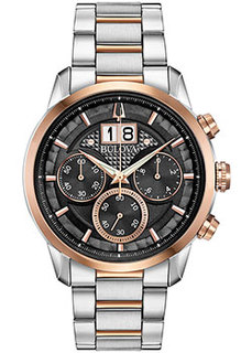 Японские наручные мужские часы Bulova 98B335. Коллекция Sutton