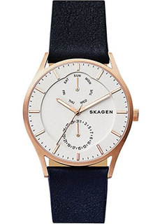 Швейцарские наручные мужские часы Skagen SKW6372. Коллекция Leather