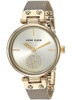 fashion наручные женские часы Anne Klein 3000CHGB. Коллекция Crystal