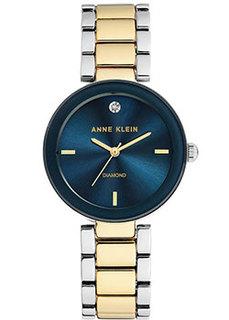 fashion наручные женские часы Anne Klein 1363NVTT. Коллекция Diamond