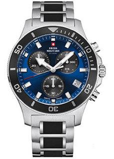 Швейцарские наручные мужские часы Swiss military SM34067.02. Коллекция Кварцевый хронографы