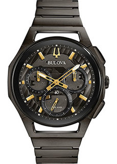 Японские наручные мужские часы Bulova 98A206. Коллекция CURV