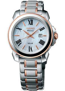 Японские наручные женские часы Seiko SUT322P1. Коллекция Premier