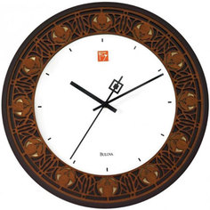 Настенные часы Bulova C3339. Коллекция Frank Lloyd Wright