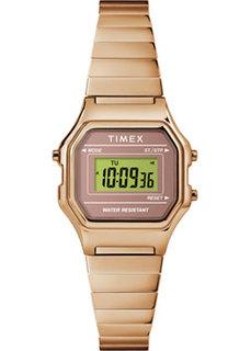 женские часы Timex TW2T48100RM. Коллекция Classical Digital Mini