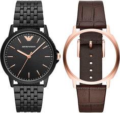 fashion наручные мужские часы Emporio armani AR80021. Коллекция Dress Watch Gift Set