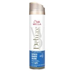 WELLA Лак для волос Deluxe EXPRESS WONDER VOLUME экстрасильная фиксация