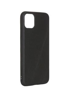 Чехол LuxCase для APPLE iPhone 11 Pro Max Кожа+TPU Black 66009