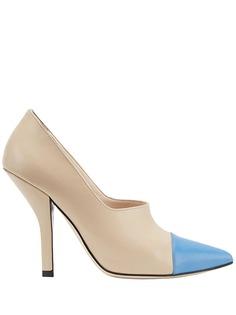 Fendi двухцветные туфли-лодочки с заостренным носком