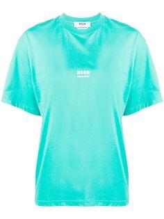 MSGM футболка с принтом Futuro!