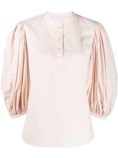 See By Chloé блузка с воротником-стойкой и объемными рукавами